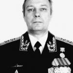 Первый зам.начальника Главного штаба ВМФ вице-адмирал Кайсин Ю.А. 1995 год